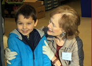 Preschooler Learns About Giving to Others